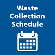 Waste collection schedule button image